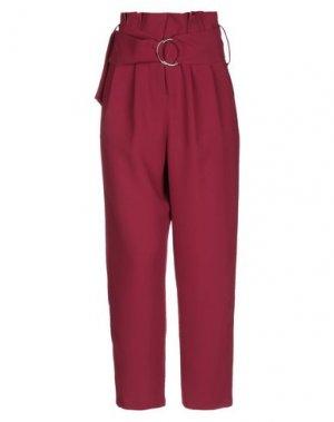 Повседневные брюки GAI MATTIOLO. Цвет: красно-коричневый