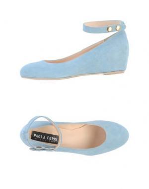 Туфли PAOLA FERRI. Цвет: небесно-голубой
