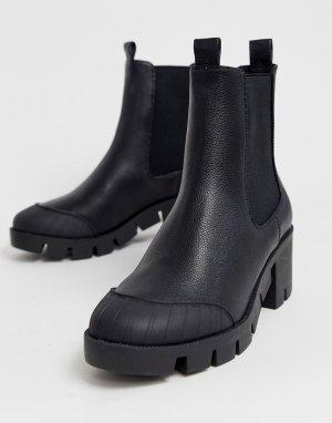 Черные ботинки челси на массивной подошве ASOS DESIGN