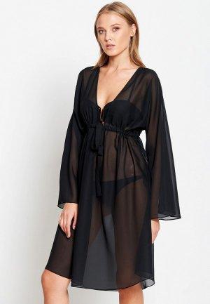 Платье пляжное Donatello Viorano. Цвет: черный