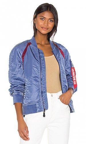 Куртка бомбер l-2b raglan battlewash ALPHA INDUSTRIES. Цвет: синий