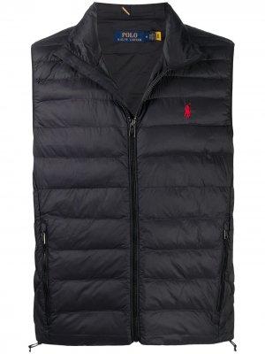 Стеганый жилет с вышитым логотипом Polo Ralph Lauren. Цвет: черный