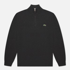 Мужской свитер Embroidered Crocodile Half-Zip Lacoste. Цвет: серый
