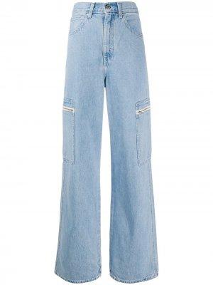 Levis широкие джинсы Utility с завышенной талией Levi's. Цвет: синий