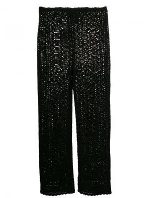 Ажурные брюки Alberta Ferretti. Цвет: черный