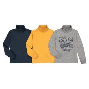 Комплект из 3 тонких пуловеров LaRedoute. Цвет: серый