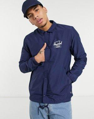 Спортивная куртка на пуговицах с кулиской и логотипом -Темно-синий Herschel Supply Co