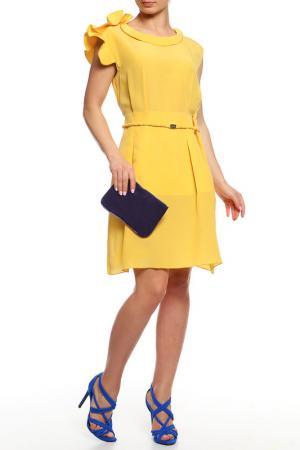 Платье Gaetano Navarra. Цвет: желтый