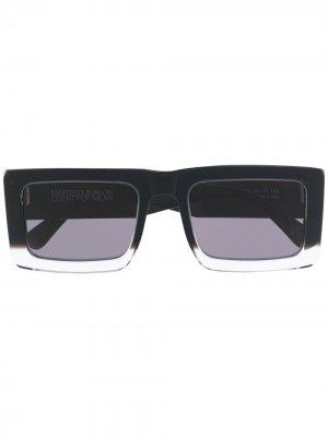 Солнцезащитные очки с логотипом Cross Marcelo Burlon County of Milan. Цвет: черный