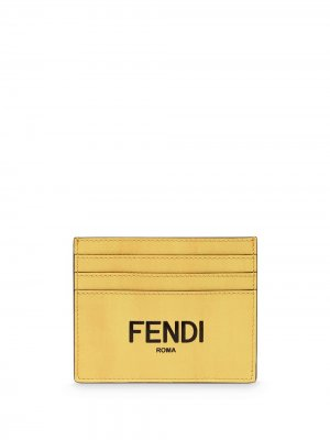 Картхолдер Business с логотипом Fendi. Цвет: желтый