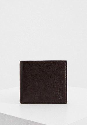 Кошелек Polo Ralph Lauren. Цвет: коричневый