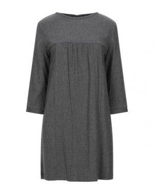 Короткое платье E-GÓ. Цвет: серый