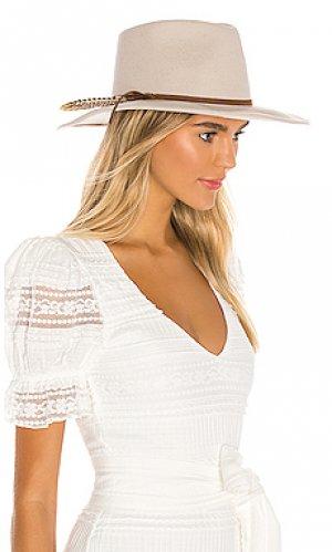 Шляпа федора leumaria ale by alessandra. Цвет: серо-коричневый