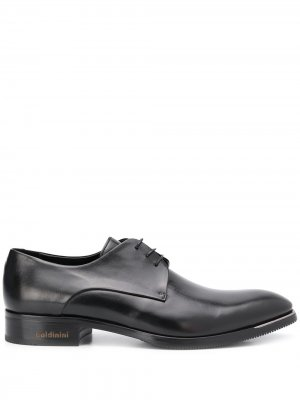 Туфли дерби на шнуровке Baldinini. Цвет: черный