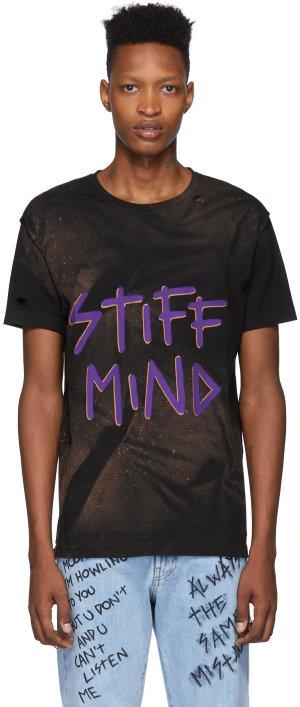 Black NTMB Bleach T-Shirt Faith Connexion. Цвет: 001 black