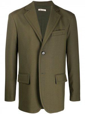Однобортный пиджак Marni. Цвет: зеленый
