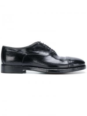 Оксфорды со шнуровкой Alberto Fasciani. Цвет: черный