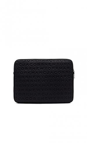 Чехол из неопрена для ноутбука с диагональю 13 логотипом Marc Jacobs. Цвет: черный
