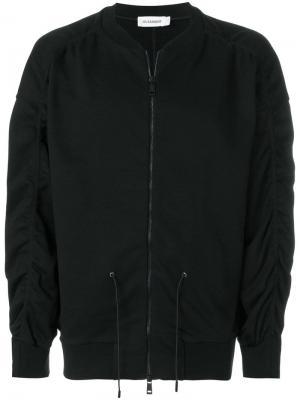 Куртка-бомбер со шнурком на талии Jil Sander. Цвет: черный