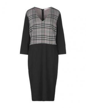 Платье до колена SANDRO FERRONE. Цвет: черный