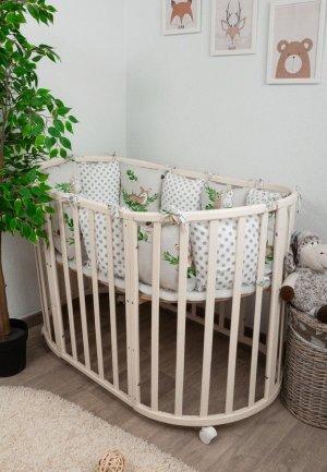 Бортик для детской кровати Сонный Гномик Лес