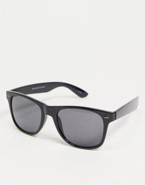 Черные солнцезащитные очки в квадратной оправе -Черный цвет Selected Homme