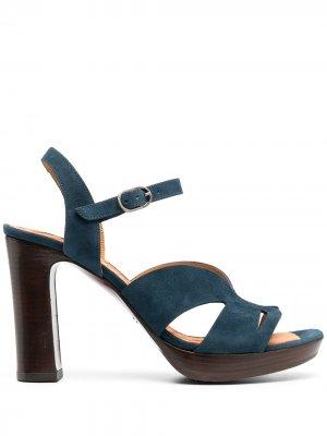 Босоножки на блочном каблуке Chie Mihara. Цвет: синий