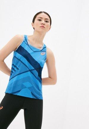 Майка спортивная ASICS W COOLING SNG. Цвет: голубой