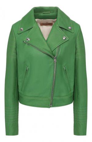 Кожаная куртка Yves Salomon. Цвет: зелёный