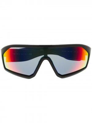 Солнцезащитные очки Prada Linea Rossa Impavid Eyewear. Цвет: черный