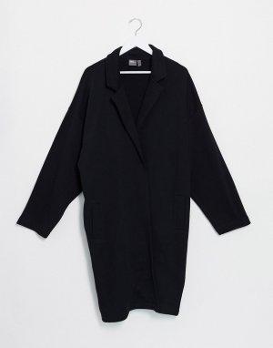 Черный трикотажный жакет свободного кроя -Черный цвет ASOS DESIGN