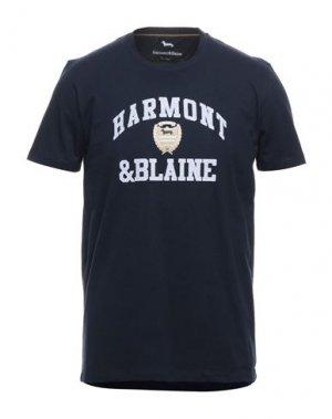 Футболка HARMONT&BLAINE. Цвет: темно-синий