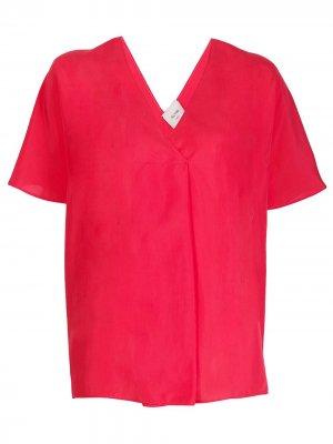 Блузка с короткими рукавами Alysi. Цвет: красный