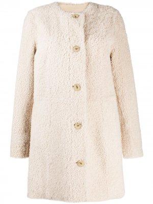 Пальто на пуговицах Drome. Цвет: нейтральные цвета