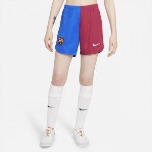 Женские футбольные шорты из домашней формы ФК «Барселона» 2021/22 Stadium - Синий Nike