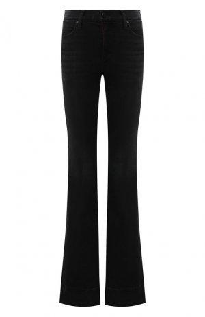 Расклешенные джинсы Alice + Olivia. Цвет: чёрный