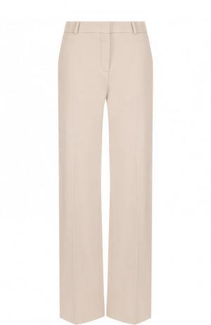 Однотонные брюки из хлопка Loro Piana. Цвет: светло-серый