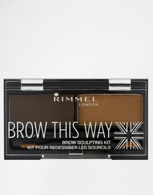 Набор для бровей Brow This Way-Коричневый цвет Rimmel London