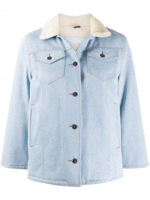 Джинсовая куртка с контрастным воротником Société Anonyme. Цвет: синий