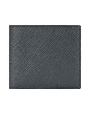 Бумажник SMYTHSON. Цвет: серый