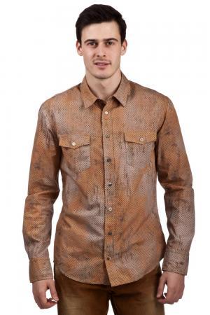 Рубашка Boss Orange. Цвет: коричневый