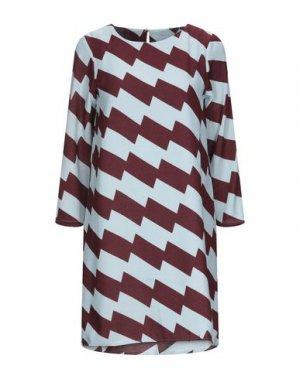 Короткое платье COMPAÑIA FANTASTICA. Цвет: красно-коричневый