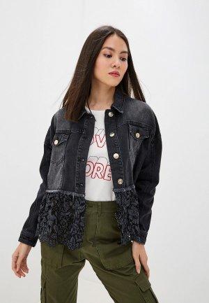 Куртка джинсовая Twinset Milano My twin. Цвет: черный