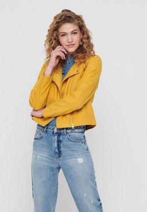Куртка Jacqueline de Yong. Цвет: желтый