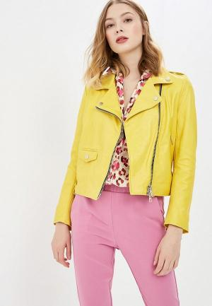 Куртка кожаная Imperial. Цвет: желтый