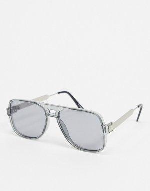Серые солнцезащитные очки-авиаторы -Серый Spitfire