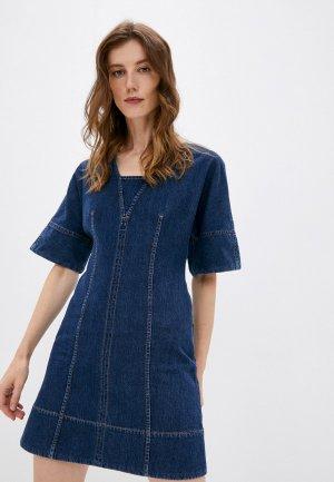 Платье джинсовое Sportmax LUSSO. Цвет: синий