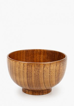 Тарелка Svahomeart 300 мл, d 13 см, h 8 см. Цвет: коричневый