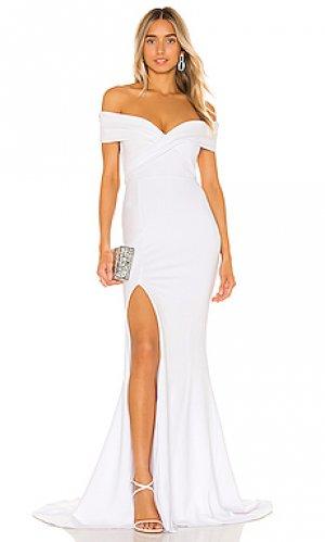Вечернее платье neptune Nookie. Цвет: белый