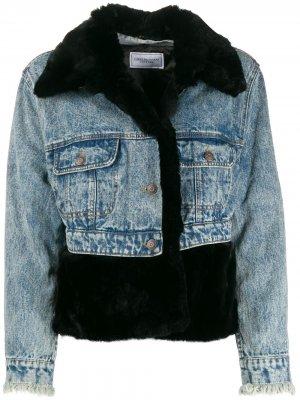 Джинсовая куртка с меховой вставкой Forte Dei Marmi Couture